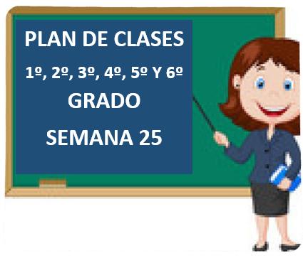 "PLAN DE CLASES A DISTANCIA 1º, 2º, 3º, 4º, 5º Y 6º GRADO PRIMARIA ""SEMANA 25"" DEL LUNES  01 AL VIERNES 05  DE MARZO DEL 2021"