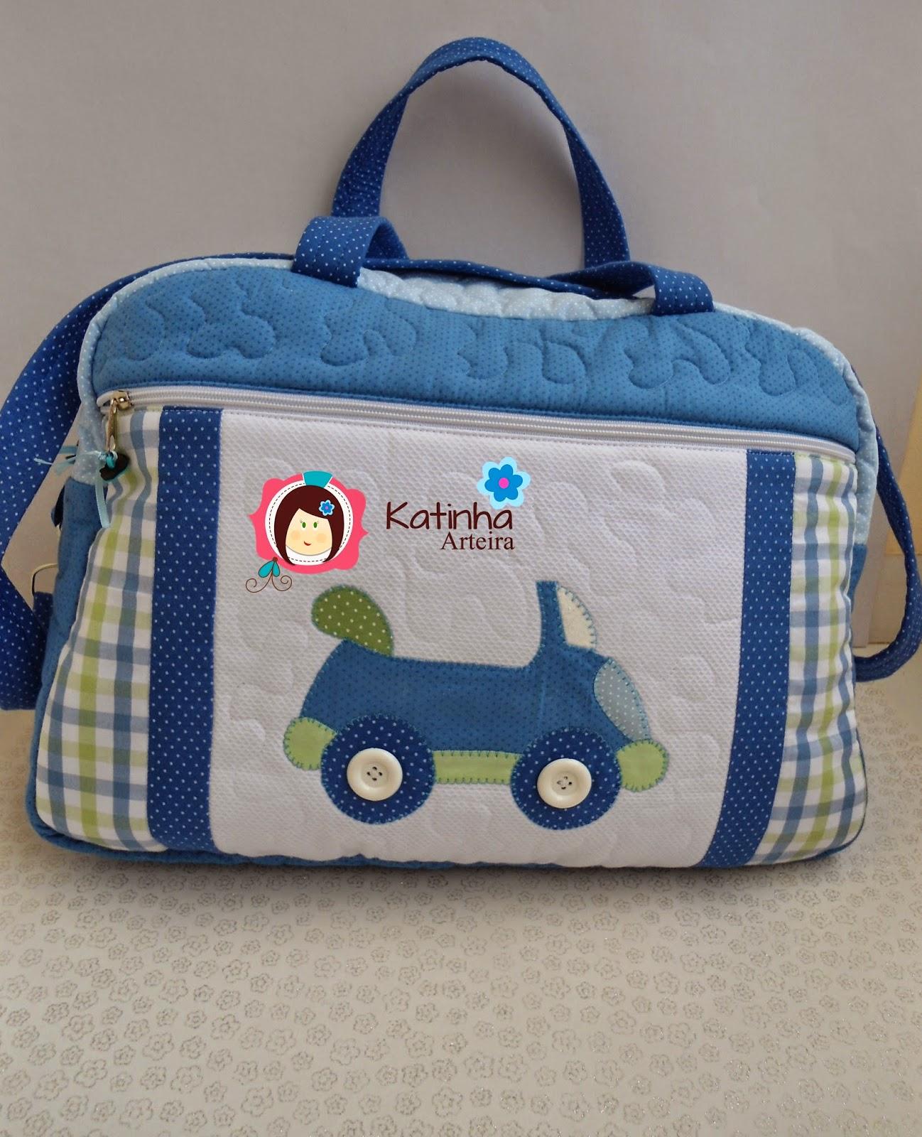 Bolsa De Tecido Bebe : Katinha arteira kit passeio beb? menino