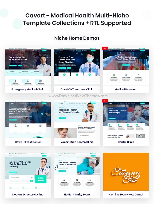 Medical Health Multi-Niche Template Collections