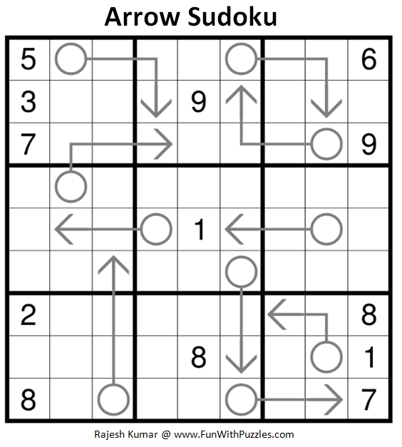 Arrow Sudoku (Daily Sudoku League #185)