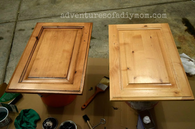 before and after gel stain glaze
