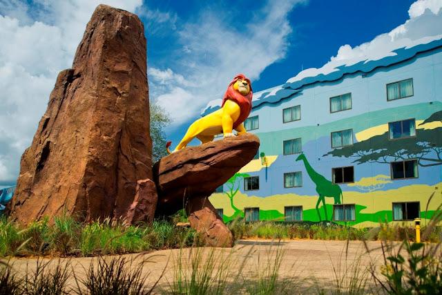 Estrutura dos hotéis dentro da Disney em Orlando