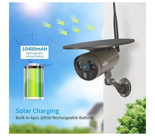 Hiseeu Solar Power Floodlight 2K Battery Camera
