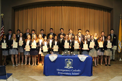 Montgomery Catholic's Loretto Chapter of National Honor Society Welcomes New Members 1