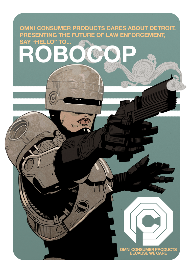 Illustrated Robocop poster