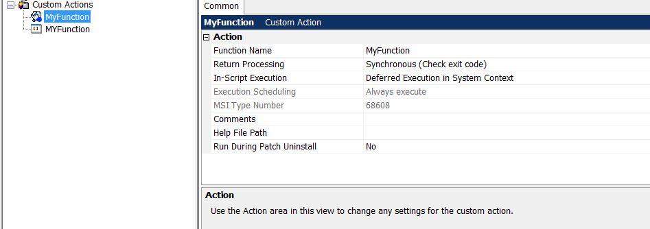 Application Packaging: Run powershell script that takes