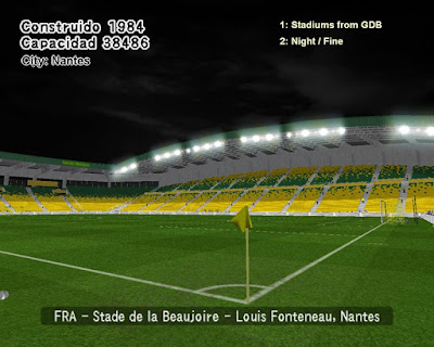PES 6 Stadiums Stade de la Beaujoire by World Stadiums PES6