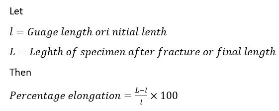 percentage elongation equation