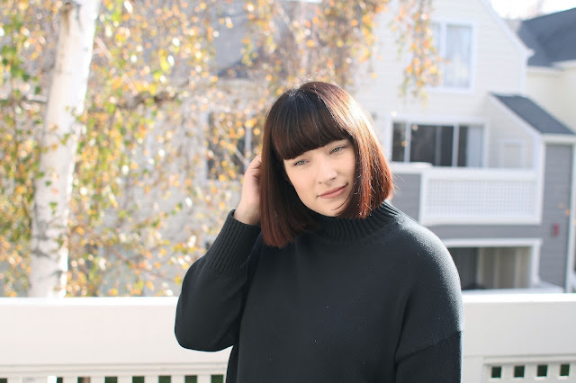 Winter, All black outfit, OOTD, WIWT, Fbloggers, postpartum, casual, Everlane
