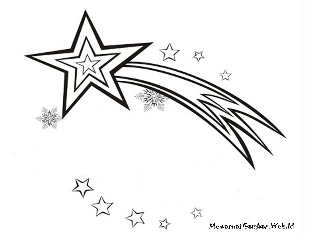 Gambar Bintang Untuk Mewarnai