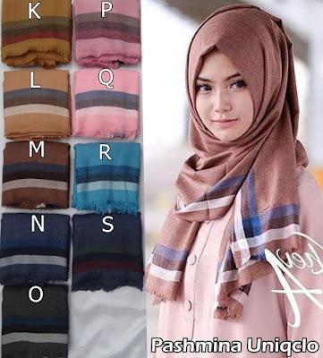 Model Jilbab Terbaru Pashmina Uniqclo