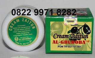 Cream zaitun untuk jerawat al ghuroba pemutih wajah asli original