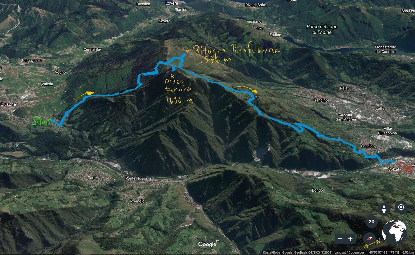 A Hike from Clusone to Rifugio Parafulmine