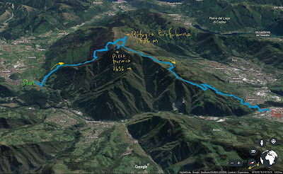 GPS tracks for Clusone - Parafulmine - Colzate hike.