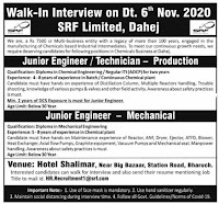 SRF Ltd Interview For Diploma/ ITI Candidates in Production/ Mechanical Department At Bharuch, Gujarat