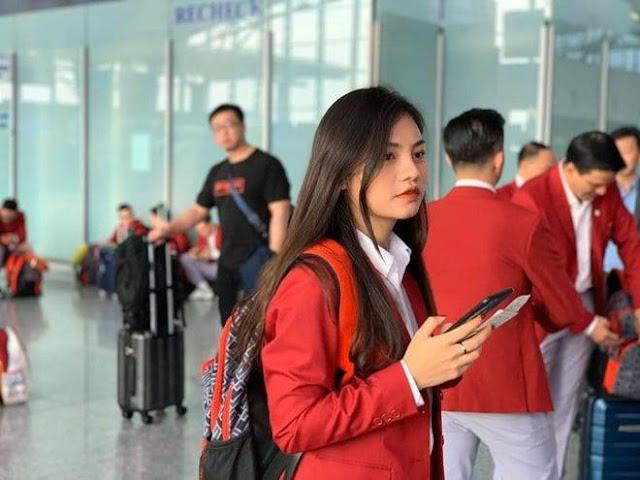 Nhan sắc Hotgirl của bác sĩ vật lí trị liệu trong Đoàn thể thao Việt Nam dự SEA Games 30 - 1