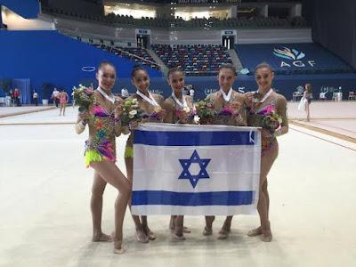 Ginastas israelenses ganham o ouro em Baku (Arzebaijão)