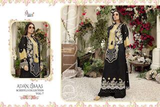 Shree Fab adan Libas Chiffli collection 7 Pakistani Suits