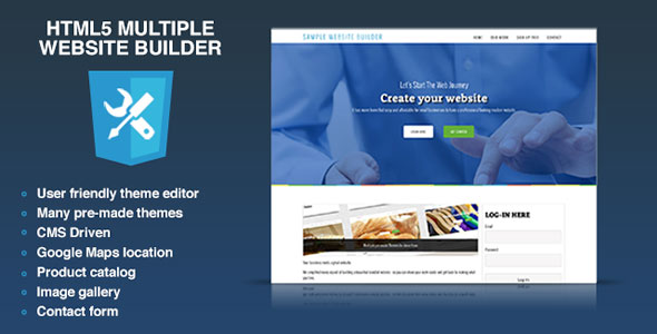 HTML5 Multiple Website Builder - Multisite CMS