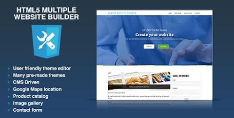HTML5 Multiple Website Builder - Multisite CMS