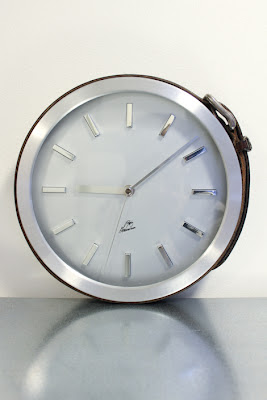 reloj, decoración, reciclar, cinturón, tunear