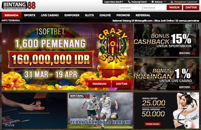 Situs Bintang88 Daftar Agen Judi Online Deposit Pulsa Tanpa Potongan Terpercaya