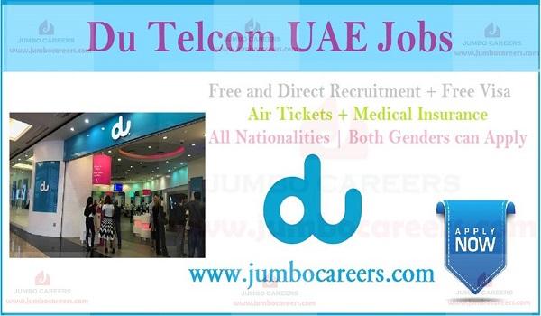 Du Telecom Dubai Latest Job vacancies 2020 - 2021