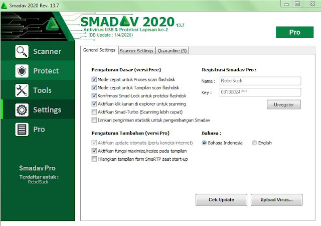 Download Smadav Pro Terbaru 2020 Rev 13.7 Full Serial Number