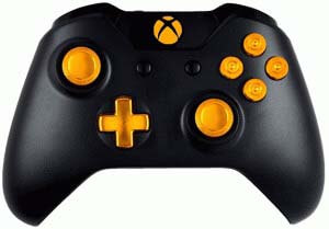 Gold 9MM Xbox One Modded Controller