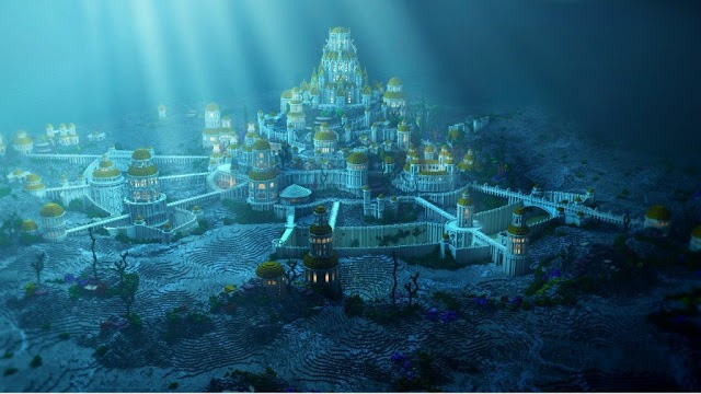 Legend of the city of Atlantis missing under the sea