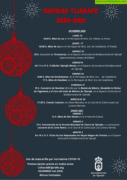 Tijarafe programa una Navidad mágica y adaptada a las normas antiCOVID19