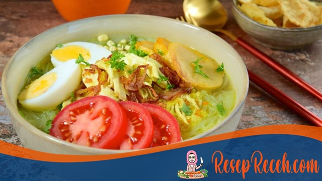Resep Soto Ayam Lamongan, Kuah Segarnya Bikin Ingin Tambah Terus