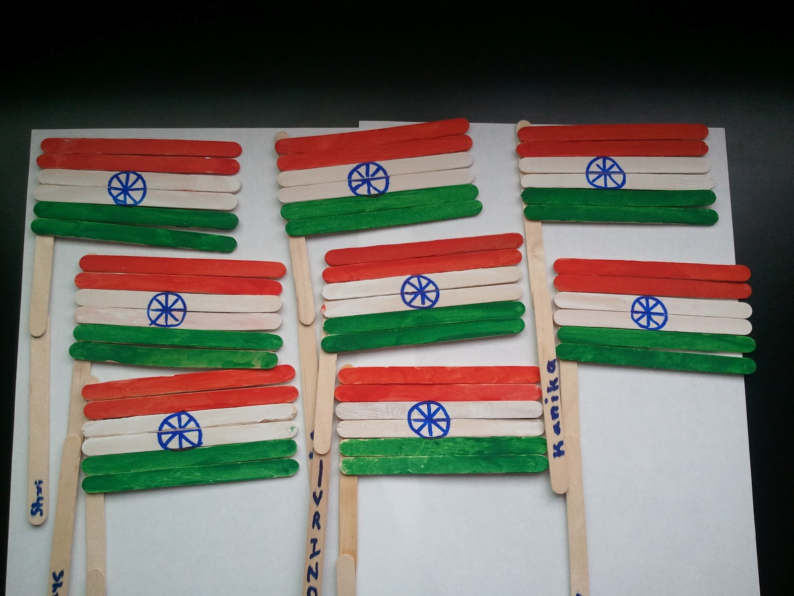 Craft For Flag Of India: Home, Kids And Crafts: Summer With Kids...last Week