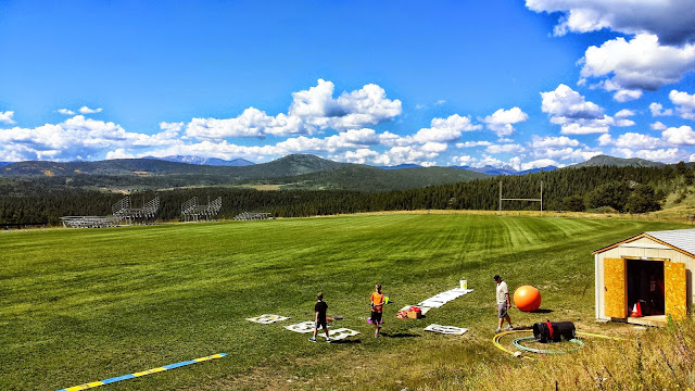 Here is a view of the 4 14ers visible from the Gilpin. Elite training facility for track.