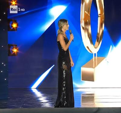 Francesca Fialdini vestito elegante premio Biagio Agnes