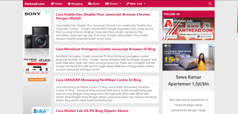 cara memasang icon di menu bar blog