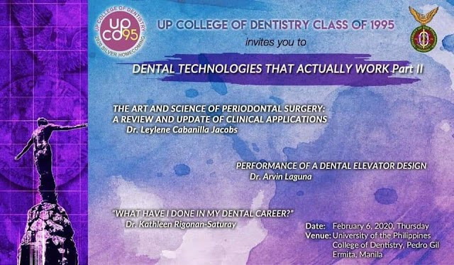 """DENTAL TECHNOLOGIES THAT ACTUALLY WORK PART2"" : A FREE SCIENTIFIC SEMINAR FOR UPCD CLINICIANS  AND UPCD ALUMNI"