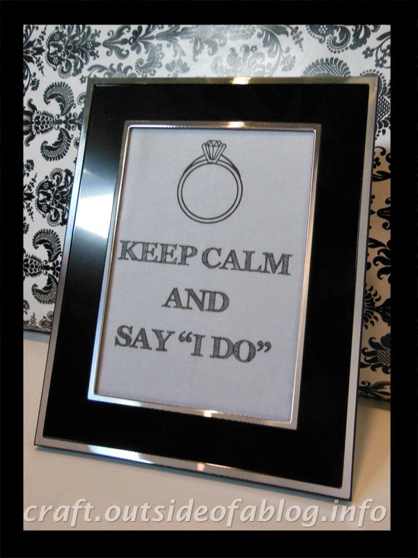 Keep Calm and Say I Do | Bridal Shower Gift