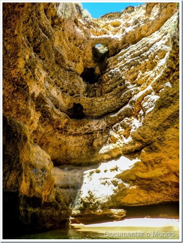 Gruta do Paraíso;  Praias Algarve; Férias Algarve; Grutas Marinhas no Algarve; Sea Caves Algarve; Grotten Fahrt Algarve