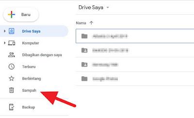 Cara mengembalikan file yang terhapus di Google Drive web