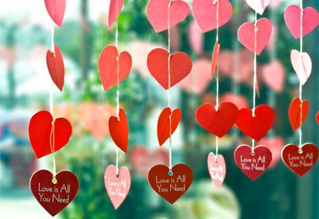 coração de papel na decoração