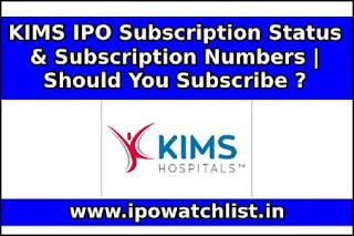KIMS IPO Subscription Status
