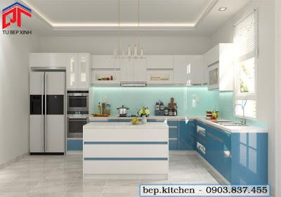 tu bep, tủ bếp đẹp, nội thất bếp, tủ bếp chữ L
