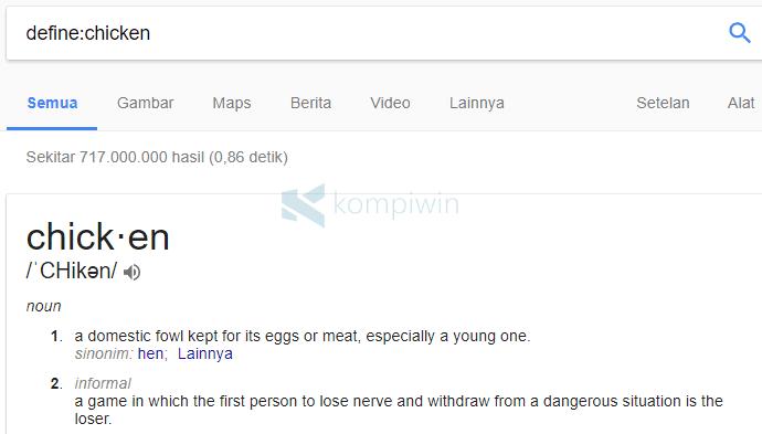 mencari di google