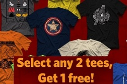 Buy 1 Get FREE Offer on Voxpop T-Shirts (Valid till 20th Aug'15)