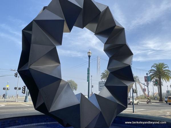 """Aurora"" fountain sculpture by Ruth Asawa on Commonwealth Club Waterfront tour in San Francisco, California"
