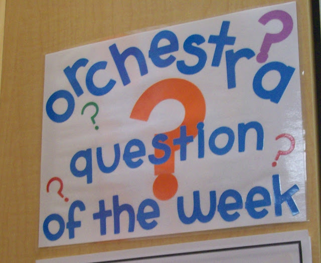 Question of the week orchestra