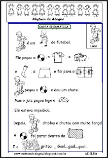 Escrita enigmática sobre futebol