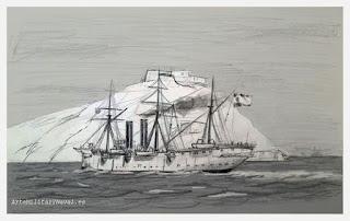 Boceto crucero Reina Mercedes 2