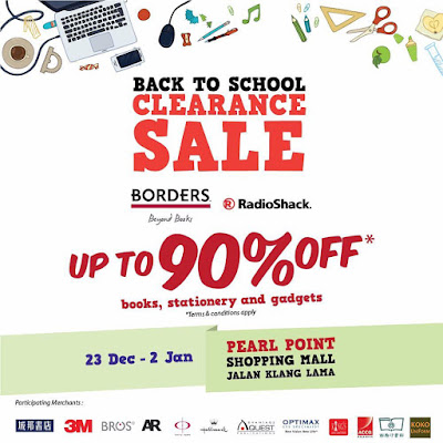 BORDERS Malaysia Back to School Clearance Sale